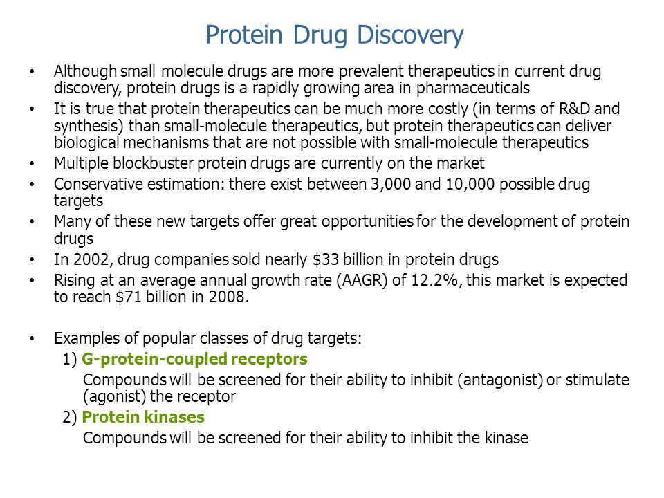 Protein Drug Discovery