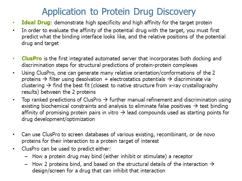 Application to Protein Drug Discovery