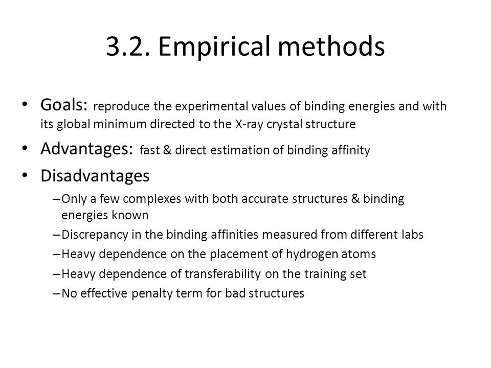 3.2. Empirical methods