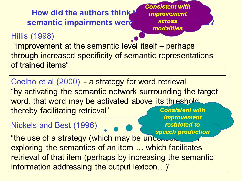 Coelho et al (2000) - a strategy for word retrieval