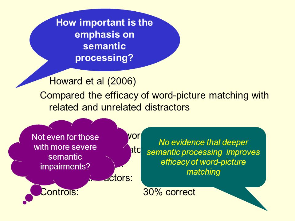 How important is the emphasis on semantic processing