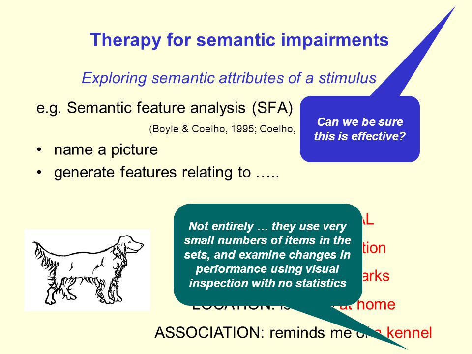 Therapy for semantic impairments