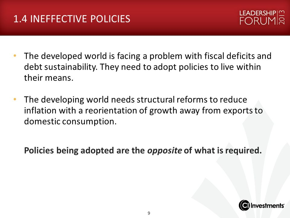 1.4 INEFFECTIVE POLICIES
