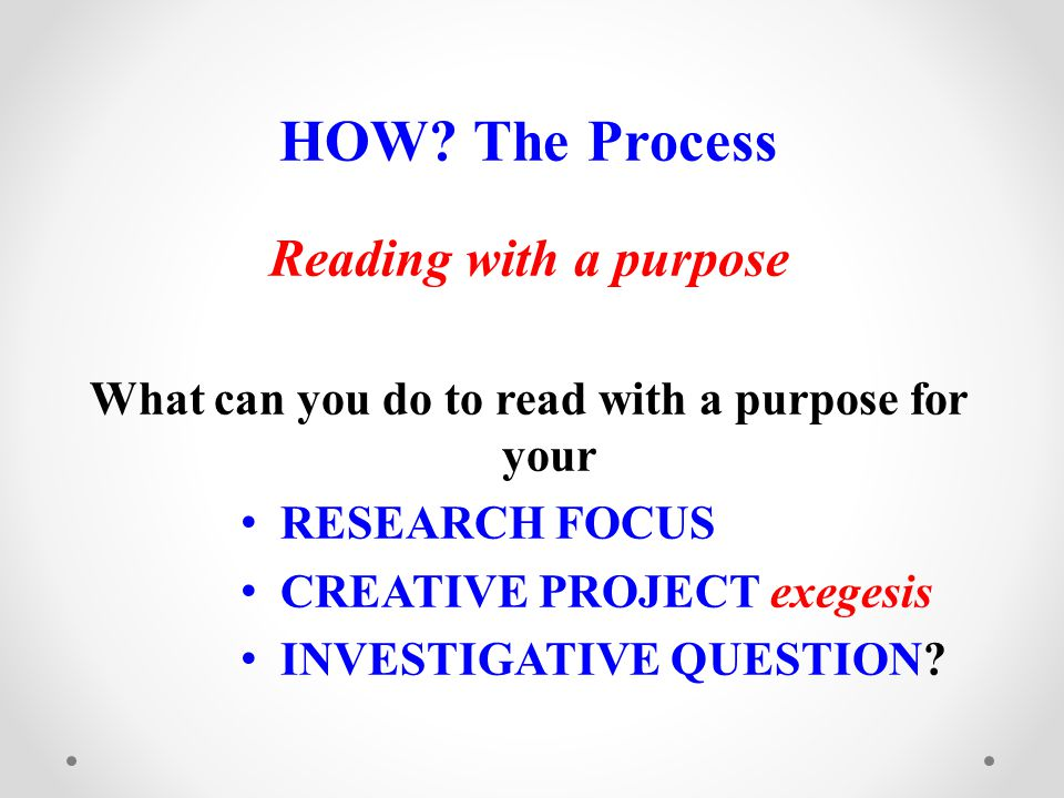 What can you do to read with a purpose for your