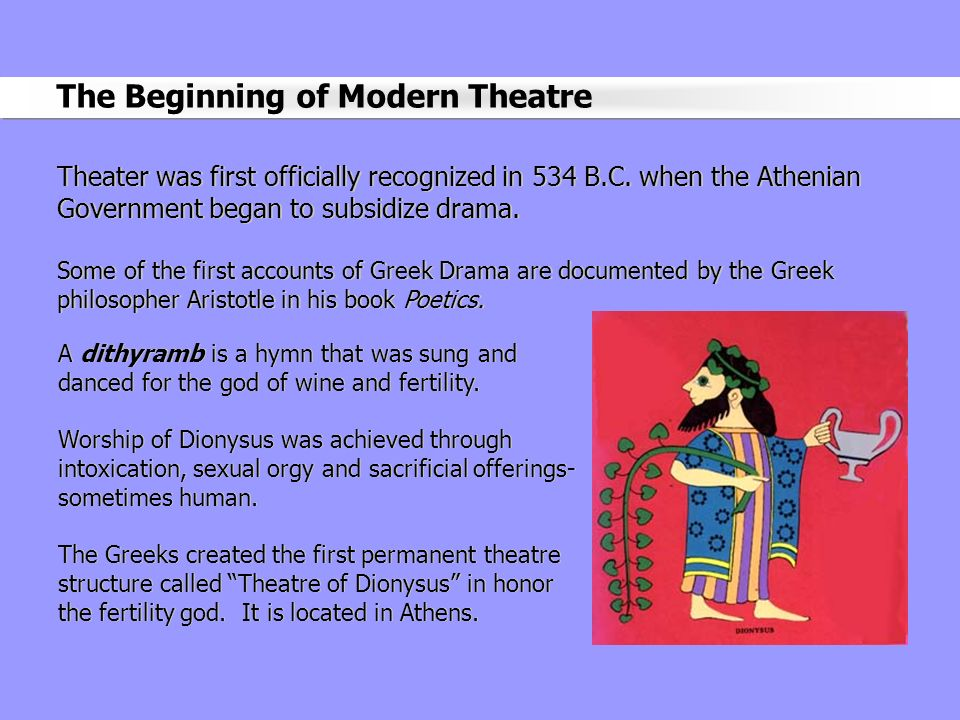 The Beginning of Modern Theatre