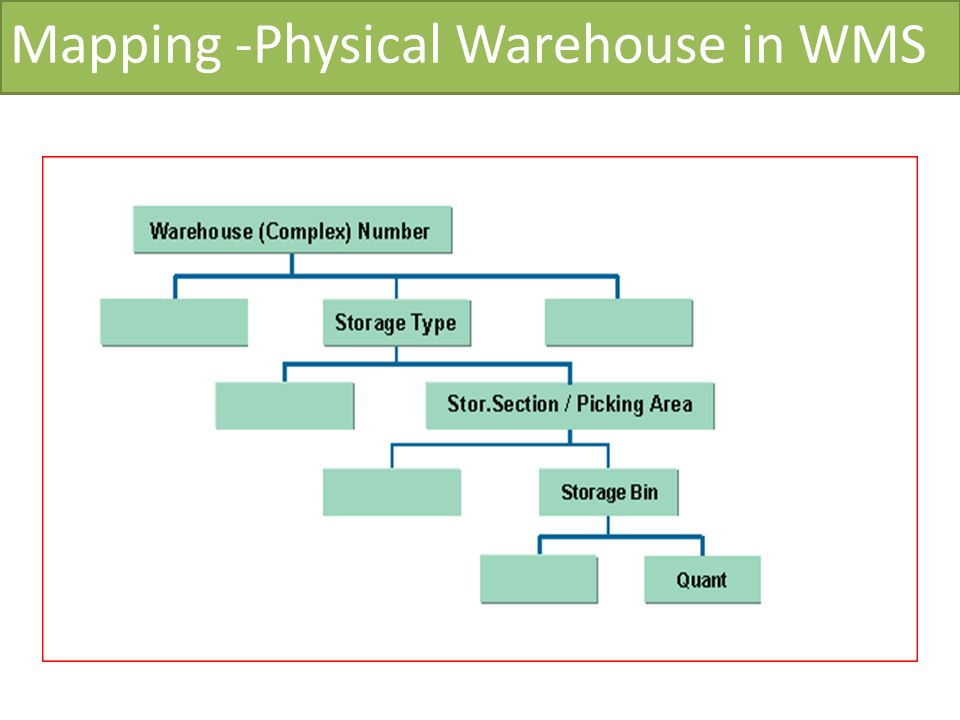 Mapping -Physical Warehouse in WMS