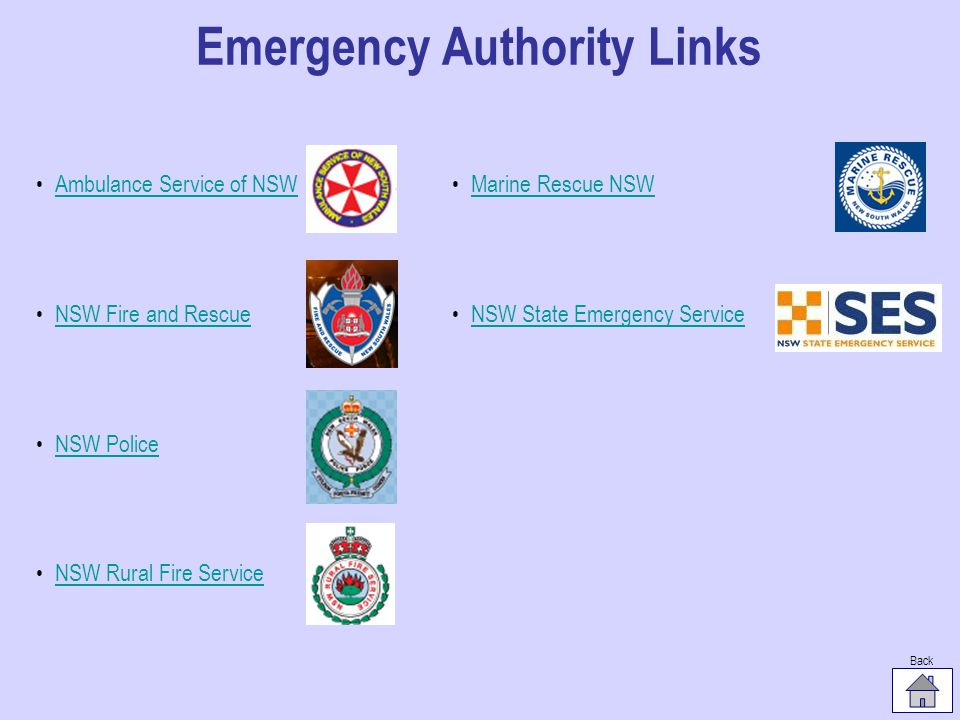 Emergency Authority Links