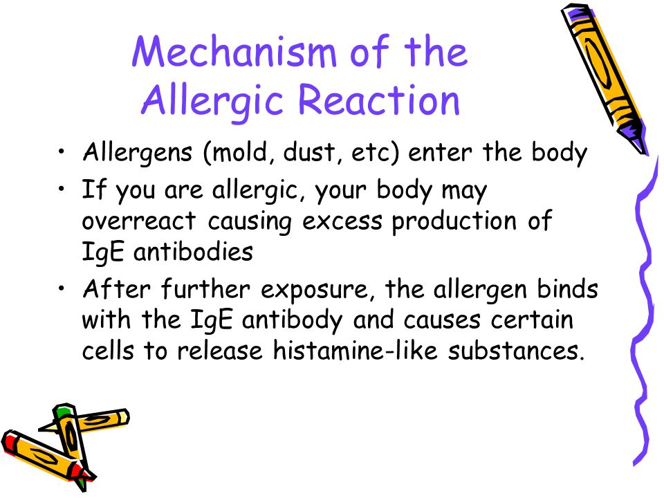 Mechanism of the Allergic Reaction