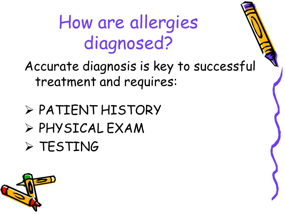 How are allergies diagnosed