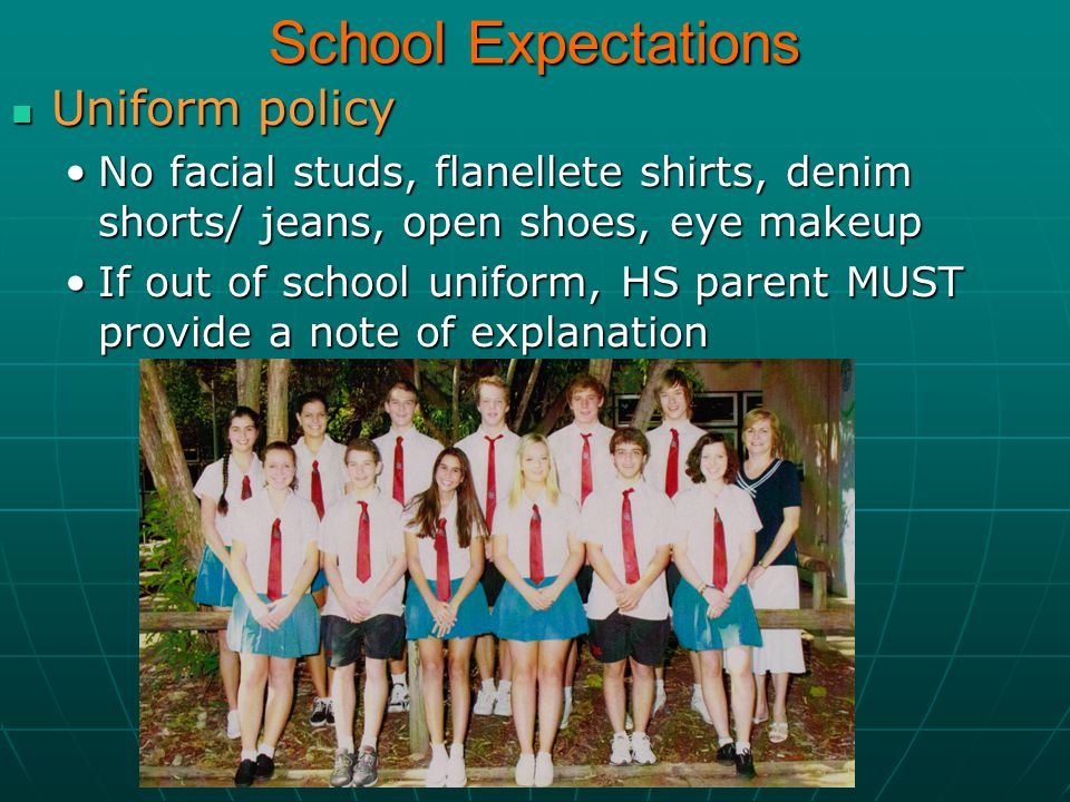 School Expectations Uniform policy
