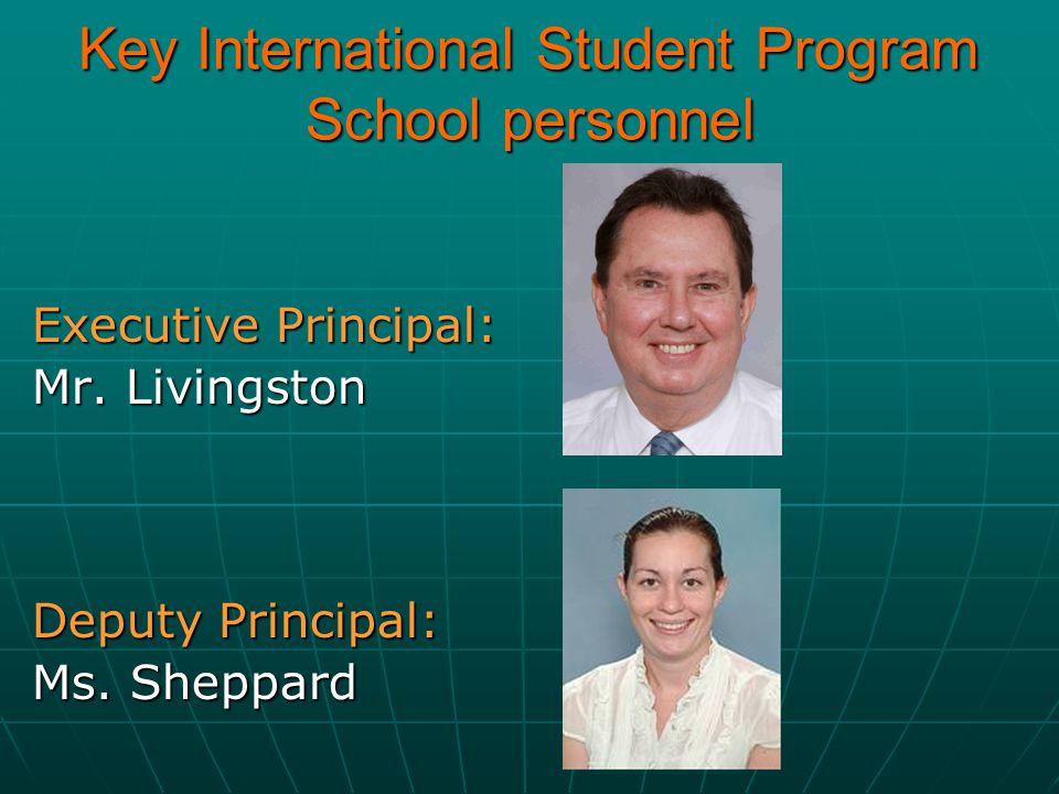 Key International Student Program School personnel