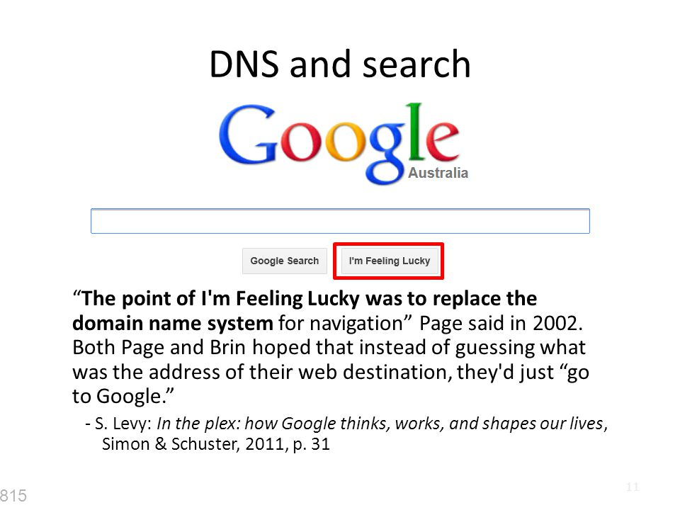 DNS and search