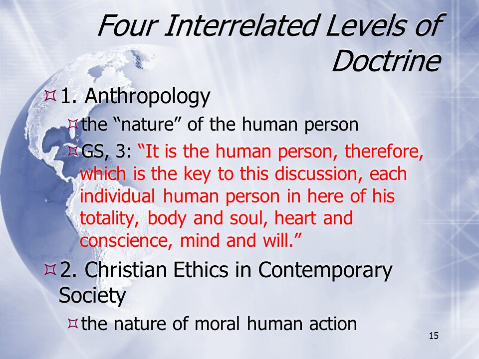 Four Interrelated Levels of Doctrine
