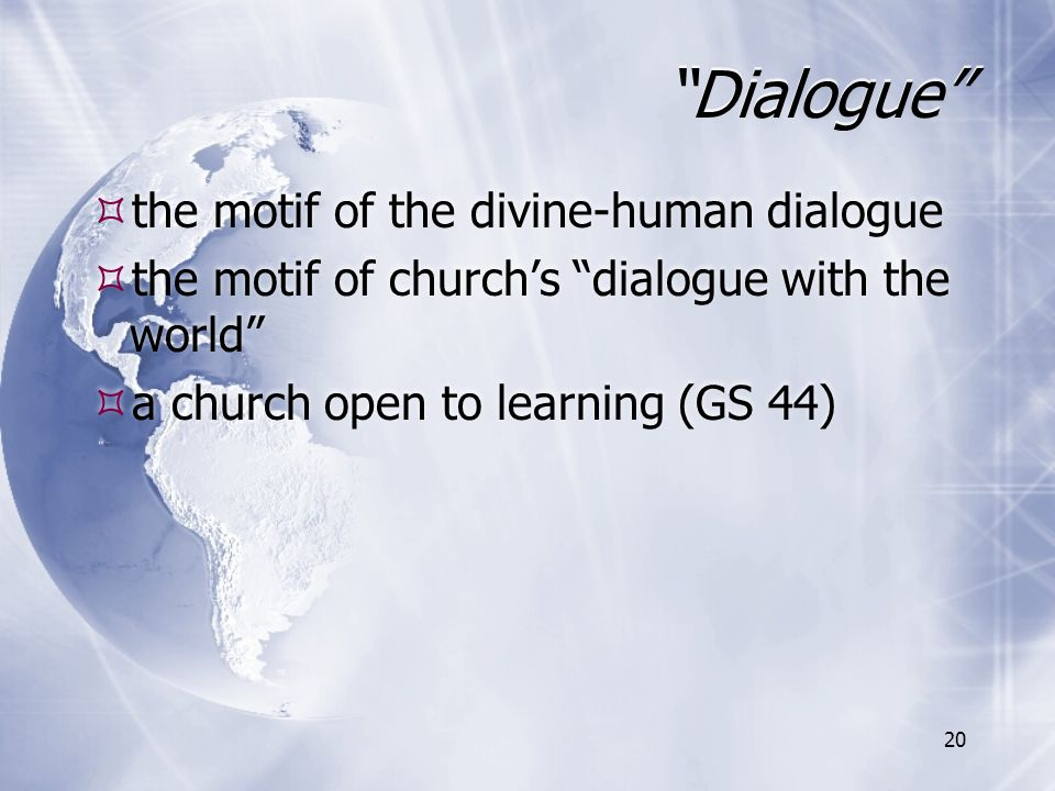 Dialogue the motif of the divine-human dialogue