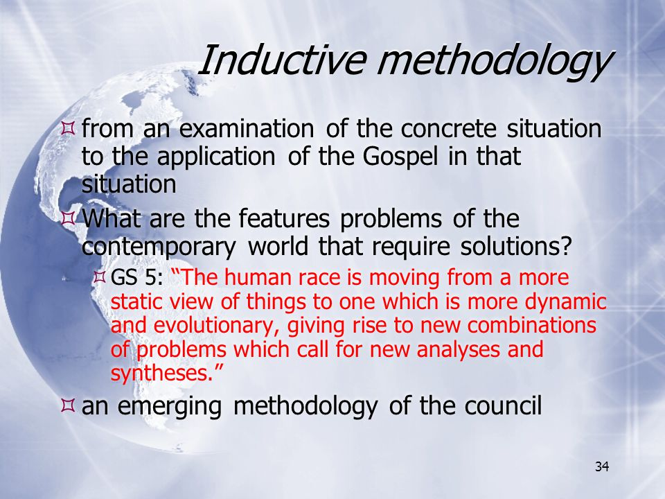 Inductive methodology