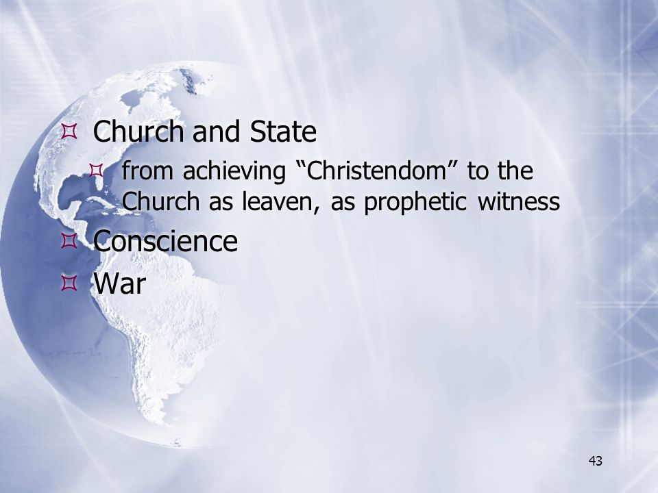Church and State Conscience War