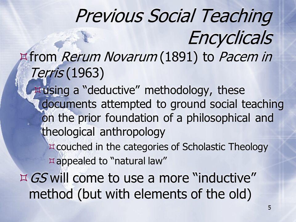 Previous Social Teaching Encyclicals