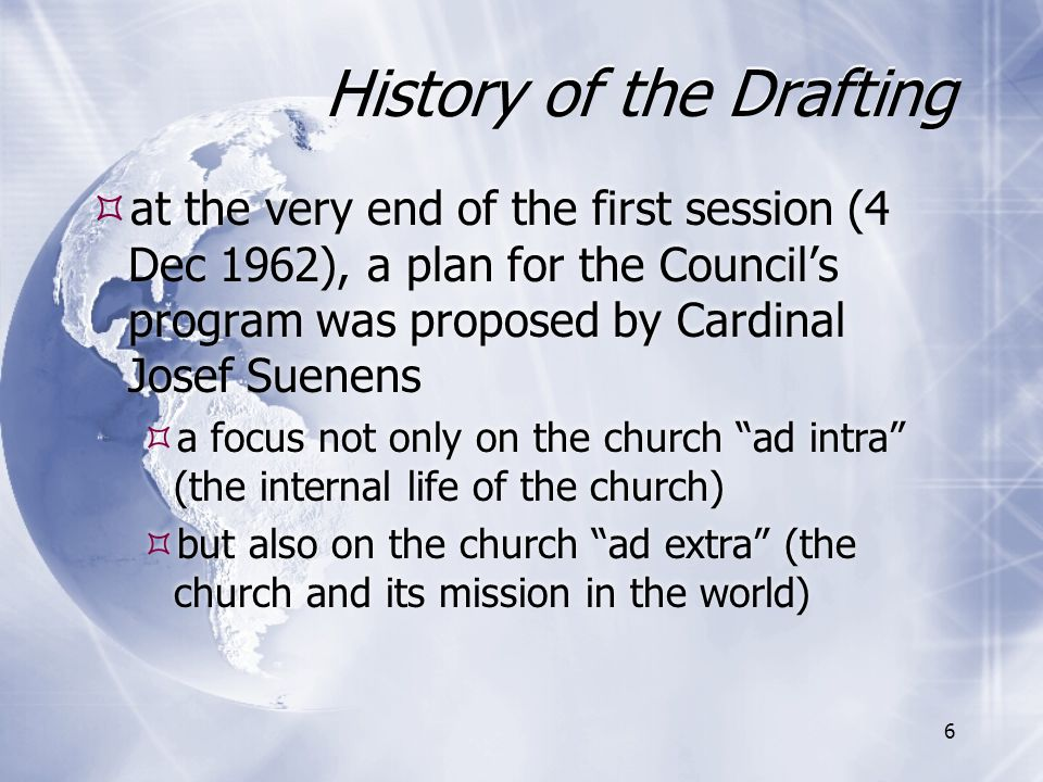 History of the Drafting