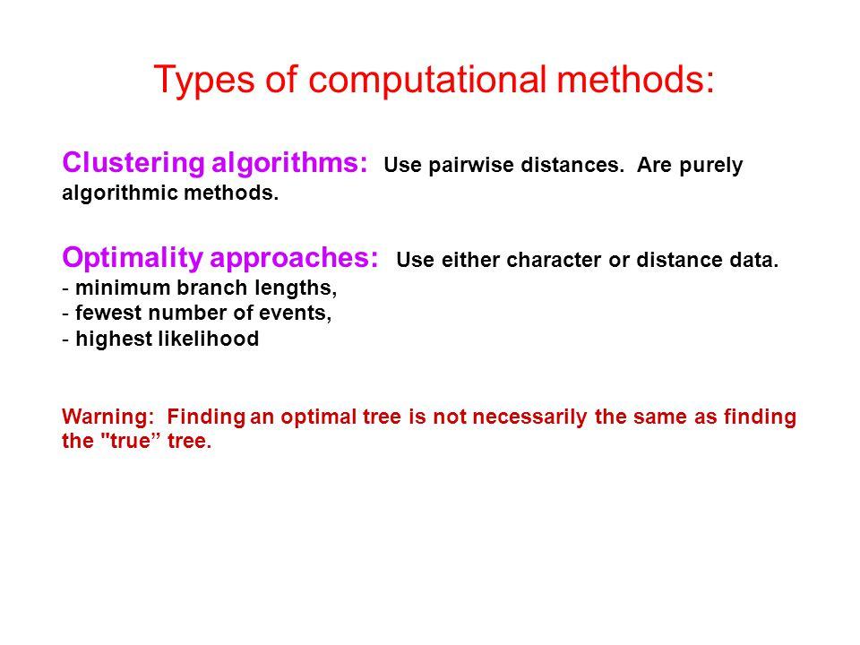 Types of computational methods: