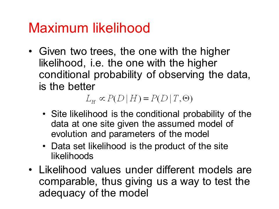 Maximum likelihood