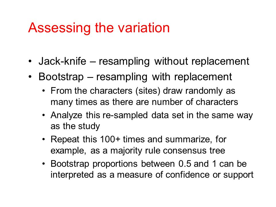 Assessing the variation
