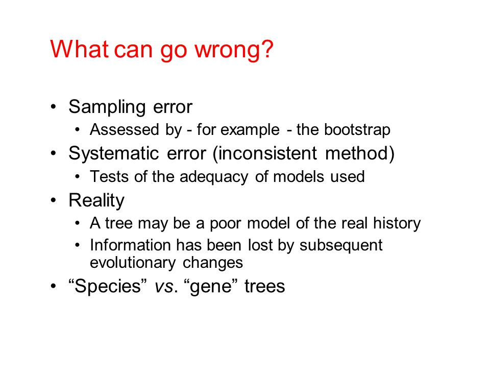 What can go wrong Sampling error