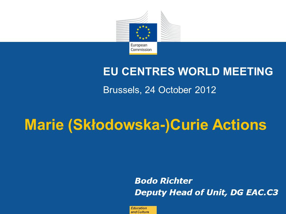 EU CENTRES WORLD MEETING Brussels, 24 October 2012