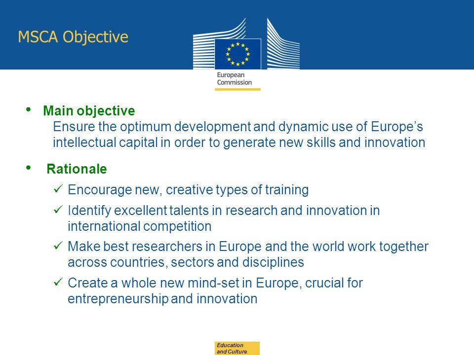 MSCA Objective Main objective