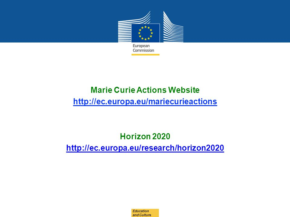 Marie Curie Actions Website