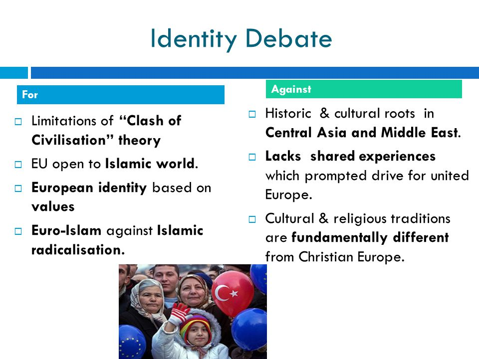 Identity Debate Against. For. Historic & cultural roots in Central Asia and Middle East.