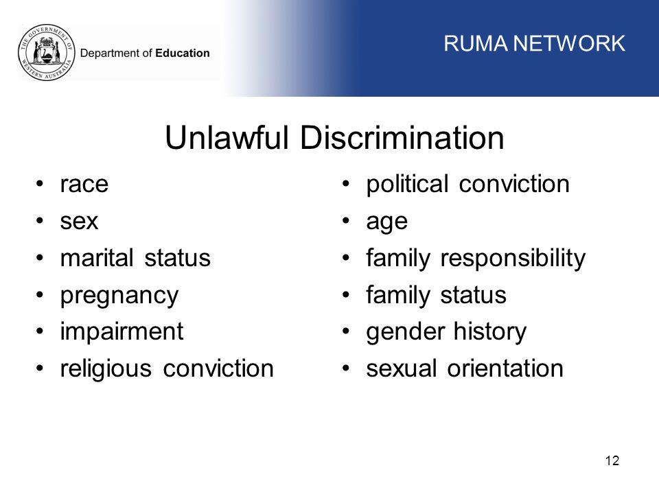 Unlawful Discrimination