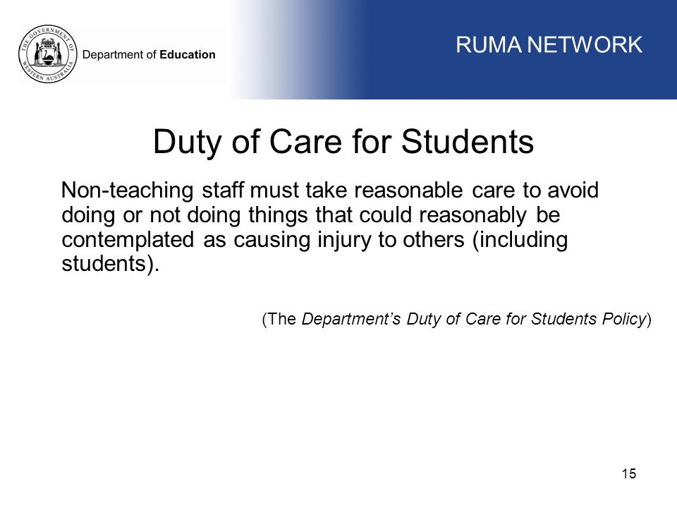 Duty of Care for Students