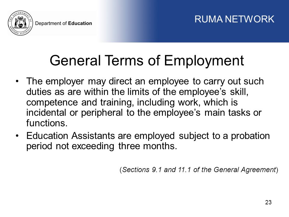 General Terms of Employment