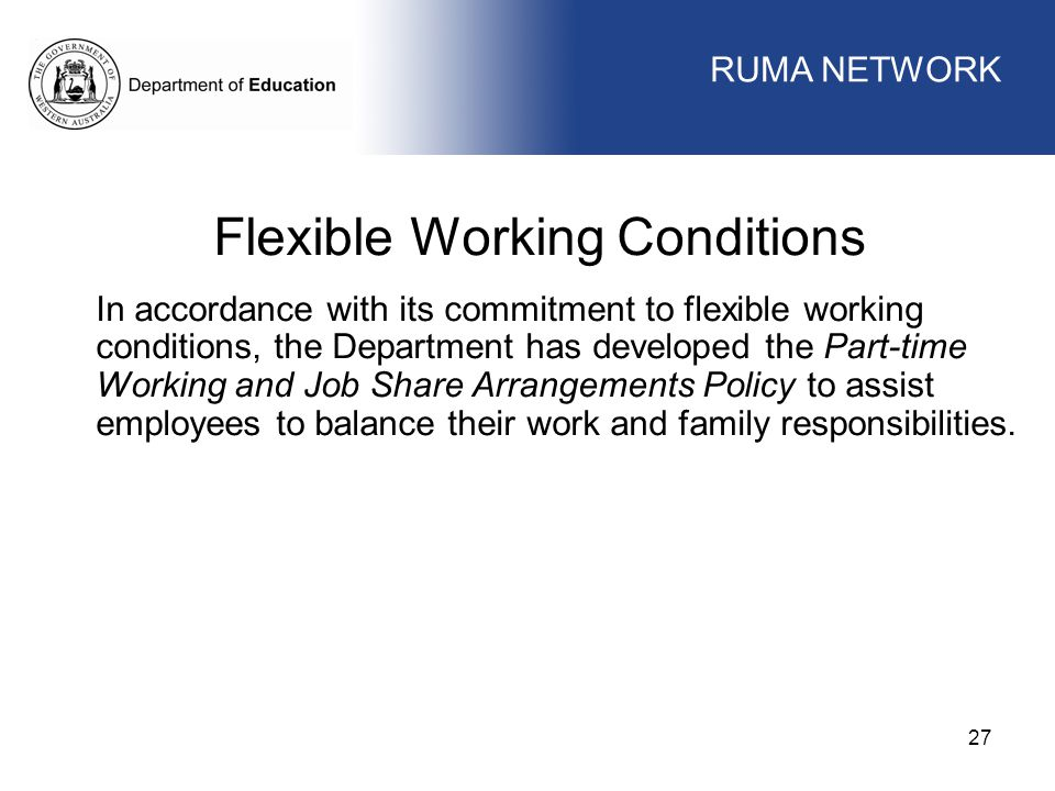 Flexible Working Conditions
