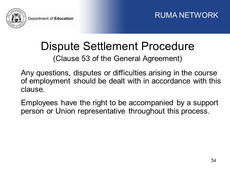 Dispute Settlement Procedure