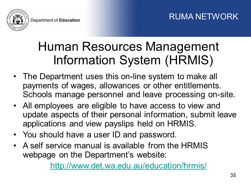 Human Resources Management Information System (HRMIS)