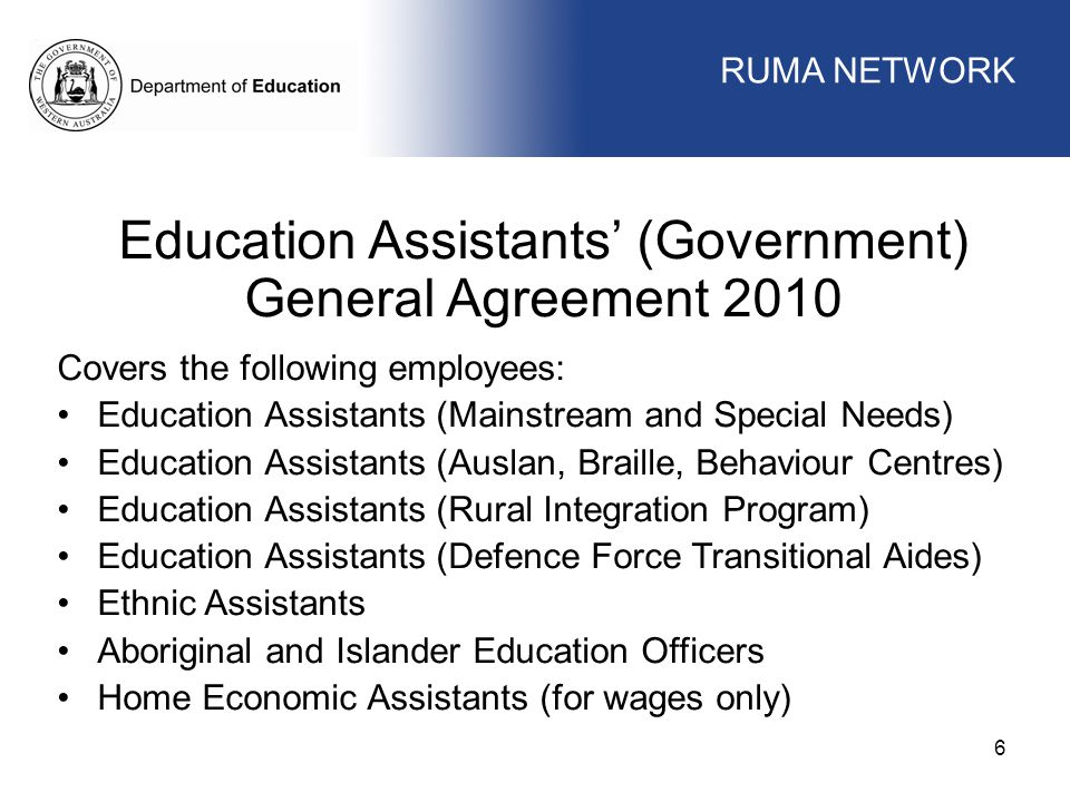 Education Assistants' (Government)