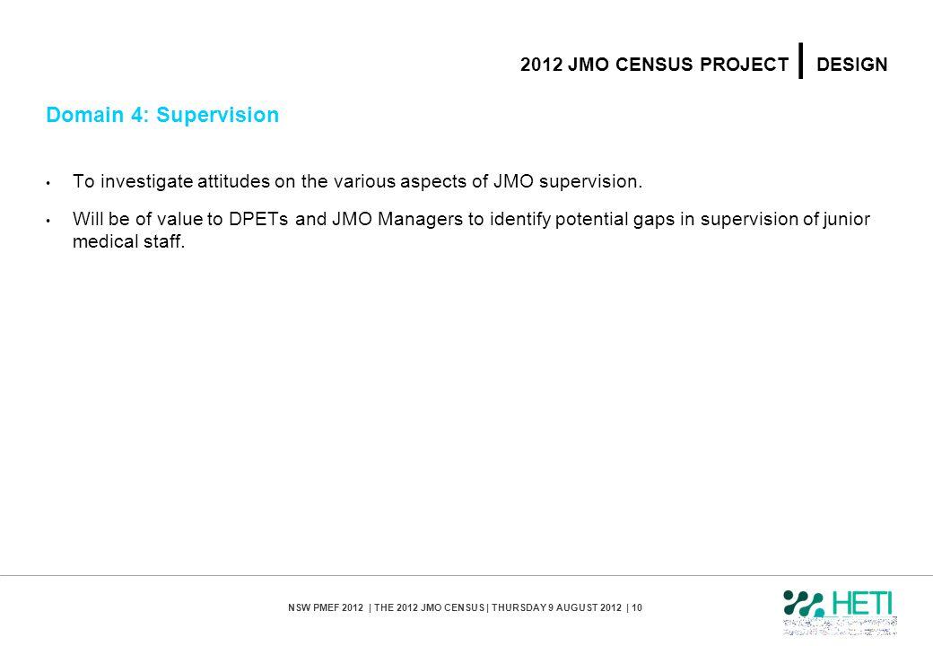2012 jmo census PROJECT | design