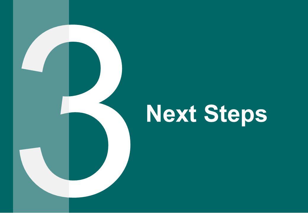 3 Next Steps