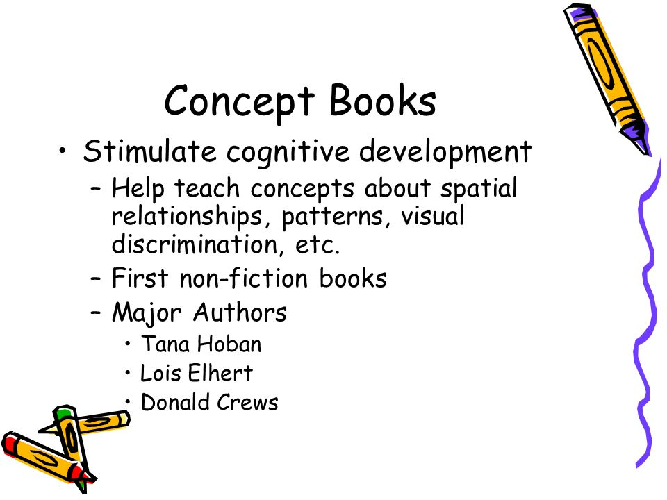 Concept Books Stimulate cognitive development