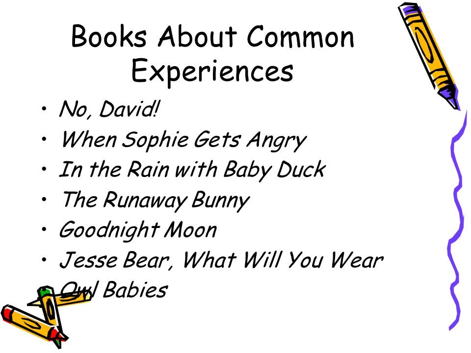 Books About Common Experiences