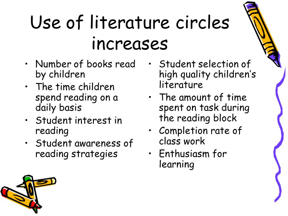 Use of literature circles increases