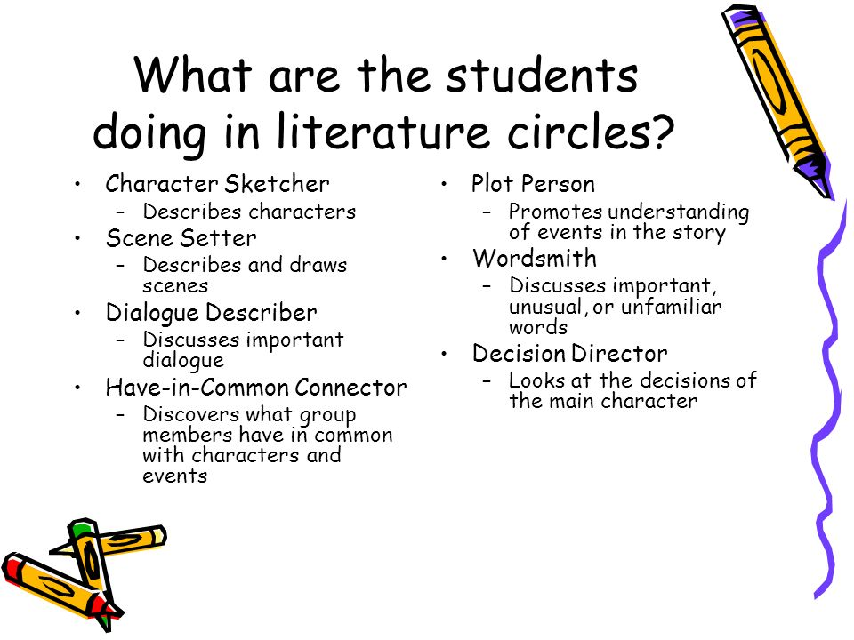 What are the students doing in literature circles