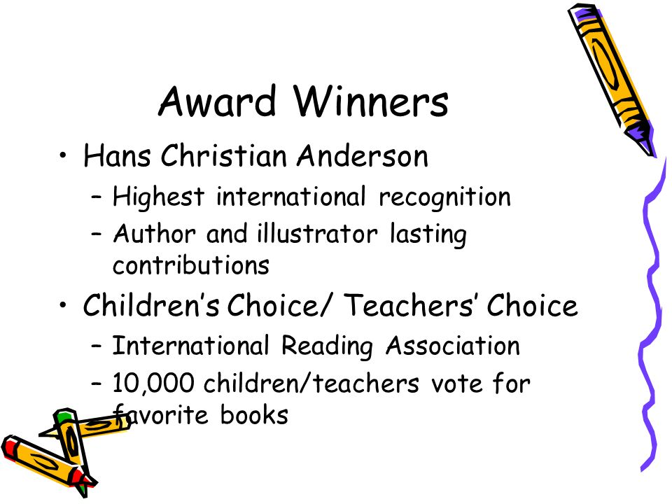 Award Winners Hans Christian Anderson