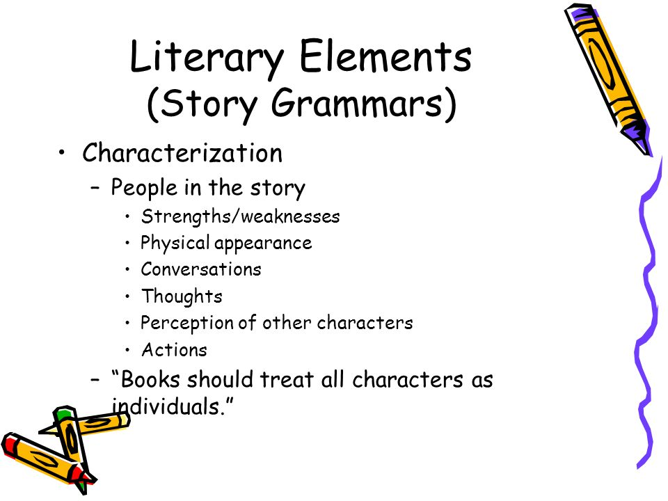 Literary Elements (Story Grammars)