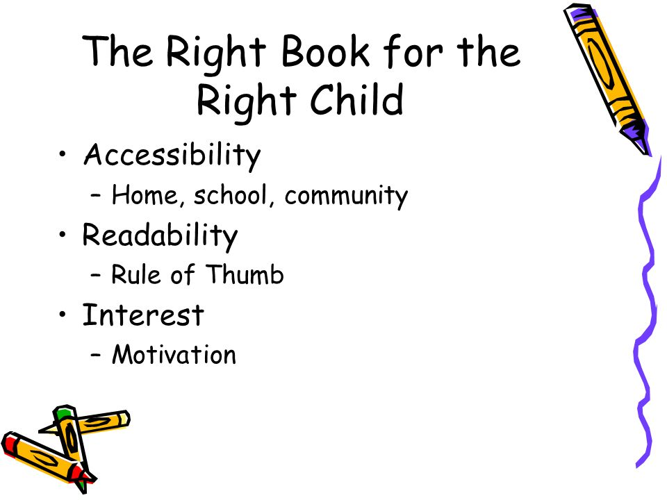 The Right Book for the Right Child