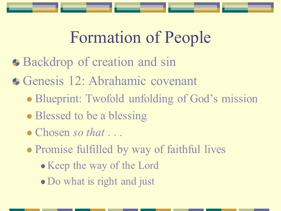 Formation of People Backdrop of creation and sin