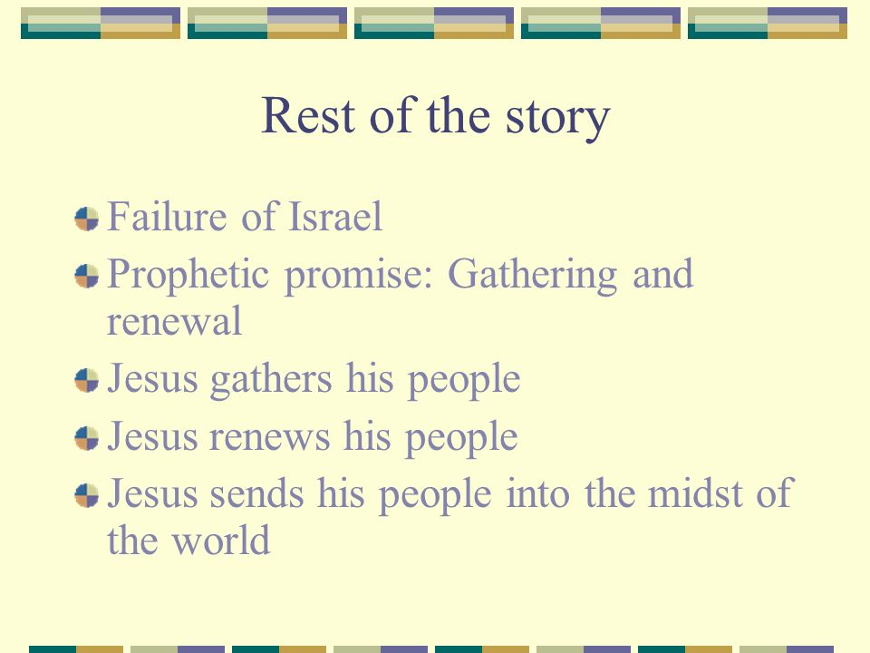 Rest of the story Failure of Israel