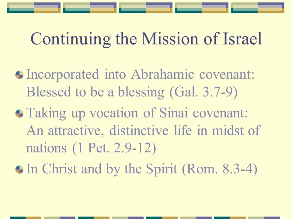 Continuing the Mission of Israel