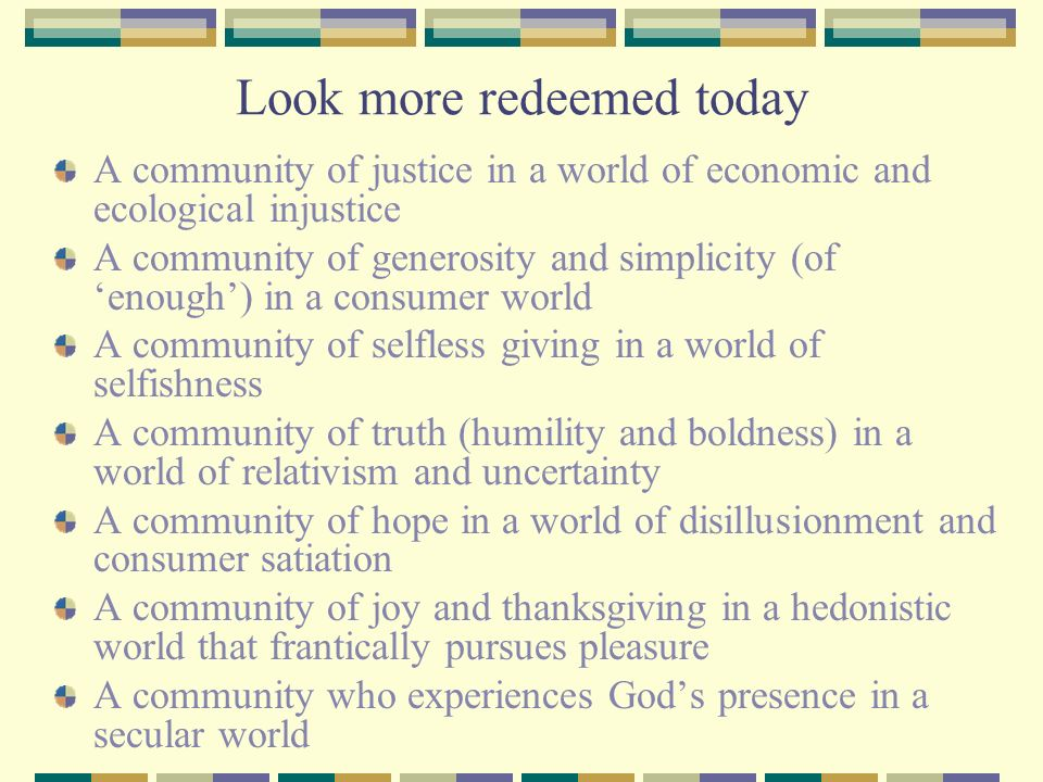 Look more redeemed today